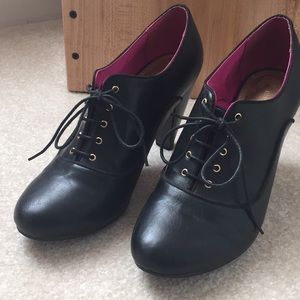 H&M Black lace up heels